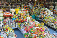 Colorful flower stall Royalty Free Stock Photos