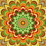 Colorful flower striped mandala Royalty Free Stock Photos