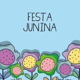 Colorful flower to celebrate the festa junina. Vector illustration Stock Photo