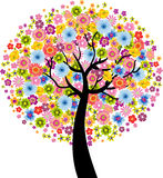 Colorful Flower Tree Royalty Free Stock Photos