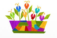 Colorful flower vase Royalty Free Stock Images