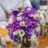 Colorful Flower Wedding Arrangement Stock Image