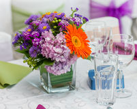Colorful Flower Wedding Arrangement Royalty Free Stock Photography