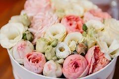 Colorful flower wedding center-piece decoration stock photos