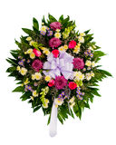 Colorful flower wreath royalty free stock photo