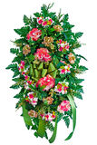 Colorful flower wreath Royalty Free Stock Images