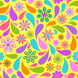 Colorful flower on yellow background. Stock Images