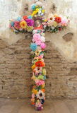 Colorful flowered cross Royalty Free Stock Photos