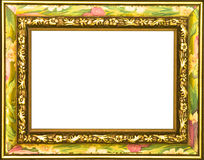 Colorful Flowered Picture Frame Royalty Free Stock Photo