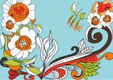 Colorful flowers vector illustration