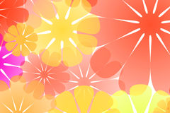 Colorful flowers abstract background Stock Photos