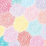 Colorful Flowers - abstract background pattern - vector eps10. Colorful Flowers - abstract pink, blue, and yellow background pattern - vector eps10 Royalty Free Stock Image