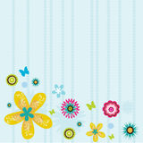 Colorful flowers background. Abstract colorful flowers illustration background Royalty Free Stock Photos