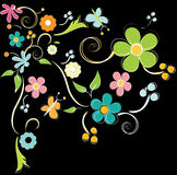 Colorful flowers background. Colorful summer flowers illustration background Stock Image