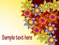 Colorful flowers background Stock Image