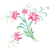 Colorful flowers background. Vector illustration of flowers on white background Vector Illustration