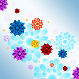 Colorful Flowers Background Shows Flowery And Growth Stock Images