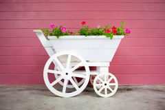 Colorful flowers on the basket Stock Photography