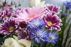 Colorful flowers bouquet at florist Royalty Free Stock Image