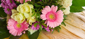 Colorful flowers bouquet . Royalty Free Stock Photos
