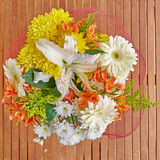 Colorful flowers bouquet Stock Photo