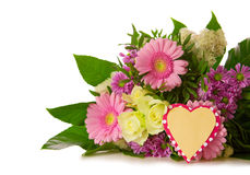 Colorful flowers bouquet isolated. Stock Image