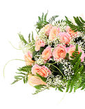 Colorful Flowers Bouquet Isolated on White Stock Image