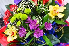 Colorful flowers bouquet Stock Photography