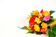 Colorful flowers bouquets. Roses love stock photography