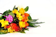 Colorful flowers bouquets. Roses love royalty free stock images