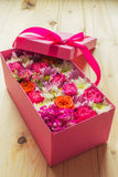 Colorful flowers in box Stock Photo