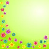 Colorful Flowers Card Royalty Free Stock Images