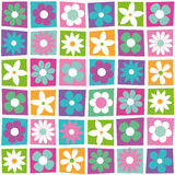 Colorful flowers collection pattern Royalty Free Stock Images