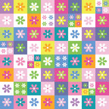 Colorful flowers collection pattern Royalty Free Stock Photo