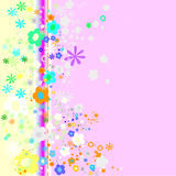 Colorful flowers design Stock Photos