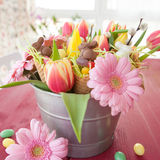 Colorful flowers for easter Stock Photos
