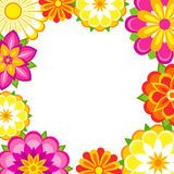 Colorful flowers frame. Frame of colorful flowers. Vector EPS8 Stock Image