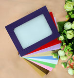Colorful flowers and frames Stock Image