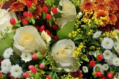 Colorful Flowers Gift Bouquets Background Royalty Free Stock Image