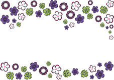 Colorful flowers. Graphic background with group of colorful flowers Royalty Free Stock Images