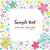 Colorful flowers greeting card border vector Royalty Free Stock Photo