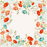 Colorful flowers greeting card royalty free illustration
