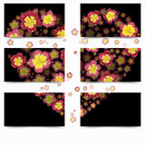 Colorful flowers in heart shape Royalty Free Stock Photography