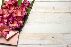 Free Colorful Flowers In Envelope, Flower Delivery Concept. Congratulate. Royalty Free Stock Photos - 84532078