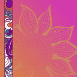 Colorful flowers pattern background. Floral frame. Vector illustration Royalty Free Stock Image