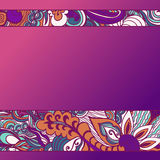 Colorful flowers pattern background. Floral frame. Vector illustration Royalty Free Stock Photography