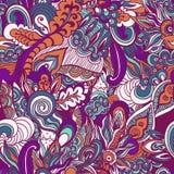 Colorful flowers pattern background. Floral frame. Vector illustration Stock Image