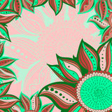 Colorful flowers pattern background. Vector illustration. Royalty Free Stock Image