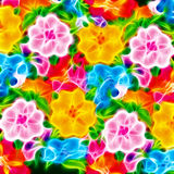 Colorful flowers pattern background Royalty Free Stock Images