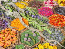 Colorful flowers pattern Stock Photography